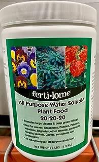 Fertilome 11722 All Purpose 20-20-20 Water Soluble Plant Food - 3 Lb.