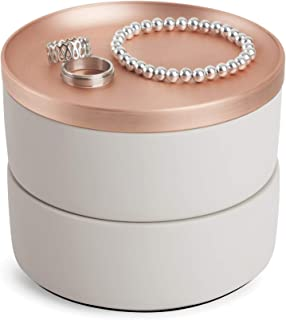 umbra tesora jewelry box concrete copper