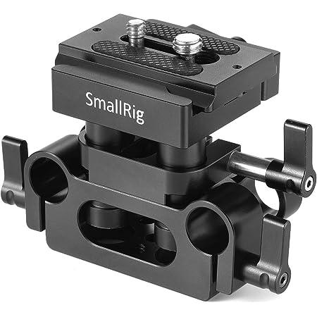 SmallRig 15mmロッドサポートシステムベースプレート Arca-swiss規格のQRプレート付き-2272