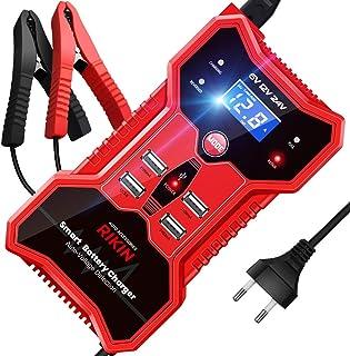 comprar comparacion RIKIN Cargador de Baterias de Coche 6V/12V/24V 10A Inteligente Automático Múltiples Puertos USB con Múltiples Protecciones...