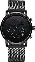 FIZILI Men Watches Chrono Minimalist | 10 Series 42 MM Wrsit Watch for Men | Analog & Date Display