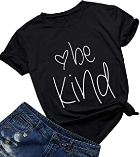 Be Kind T Shirts Women Cute Graphic Blessed Shirt Funny Inspirational Teacher Fall Tees Tops