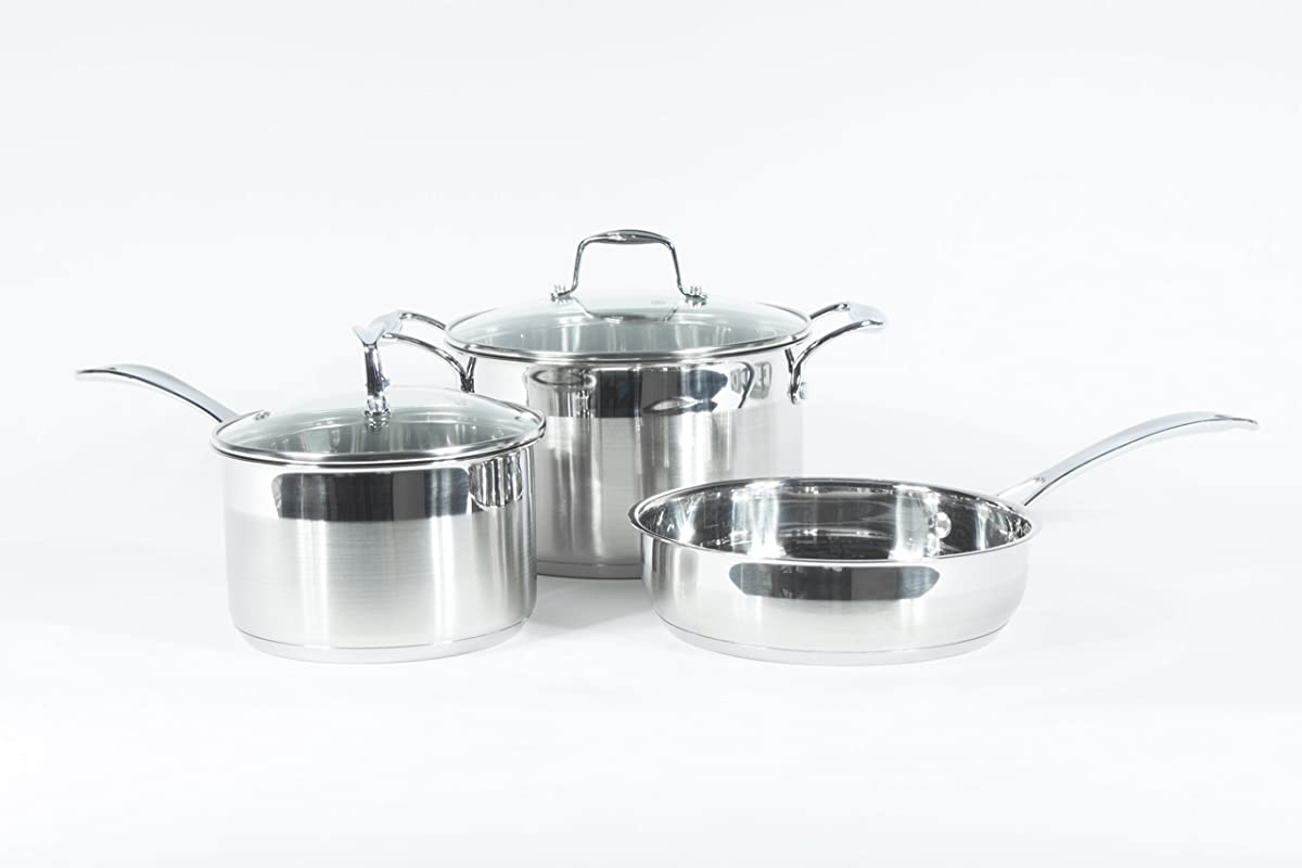 Wolfe Kitchenware Non Stick Induction Cookware Set Ready Dishwasher Safe Cookware 5 PC