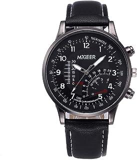 SUPERON Retro Design Leather Band Analog Alloy Quartz Wrist Watches