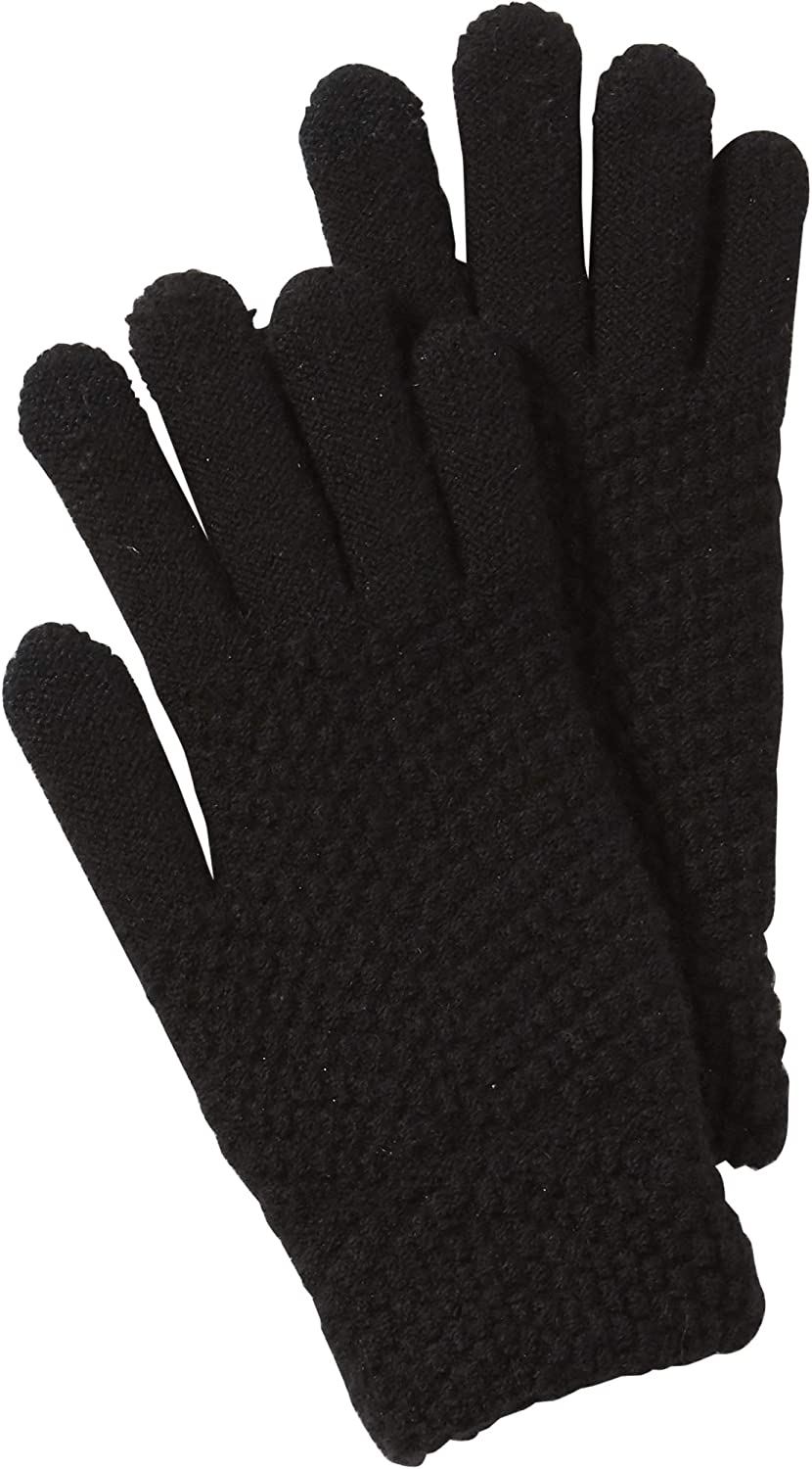 Tickled Pink womens Anna Texting Knit Gloves