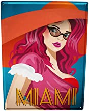 Losea Holiday Travel Agency Miami Rustic Shabby Vintage Style Retro Kitchen Bar Pub Coffee Shop Man cave Decor Gift Ideas