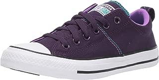 Converse Women's Chuck Taylor All Star Madison Low Top Sneaker, Grand Purple/White/Black, 6.5 M US