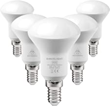 SINCELIGHT LED Reflector R50 Light Bulb with E14/SES Base, 5W(50W Equivalent), Cool White 6000K, Milky Cover, 120° Beam An...