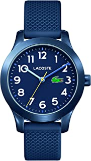 Lacoste Kids 12.12, Quartz TR-90 and Rubber Strap Casual Watch, Blue, Unisex, 2030002