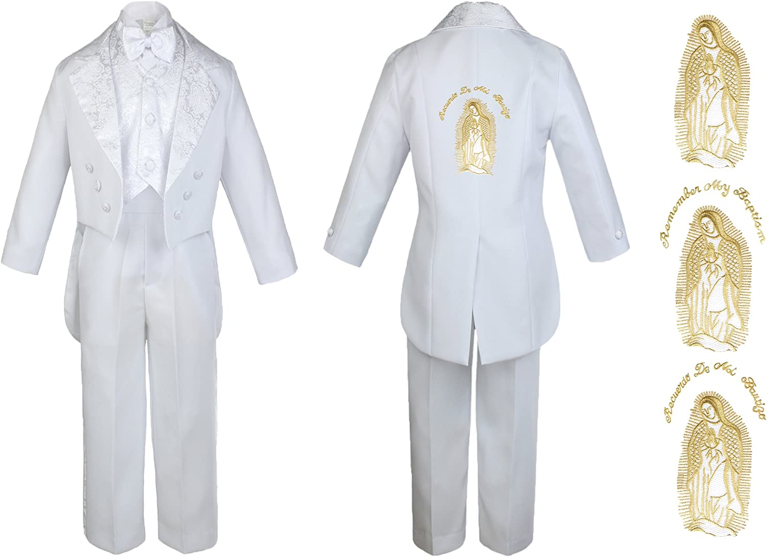 New Born Baby Boy Christening Baptism White Tail Max 45% OFF Suit Mary Maria Max 65% OFF