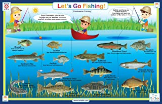 Tot Talk Fishing Educational Placemat for Kids