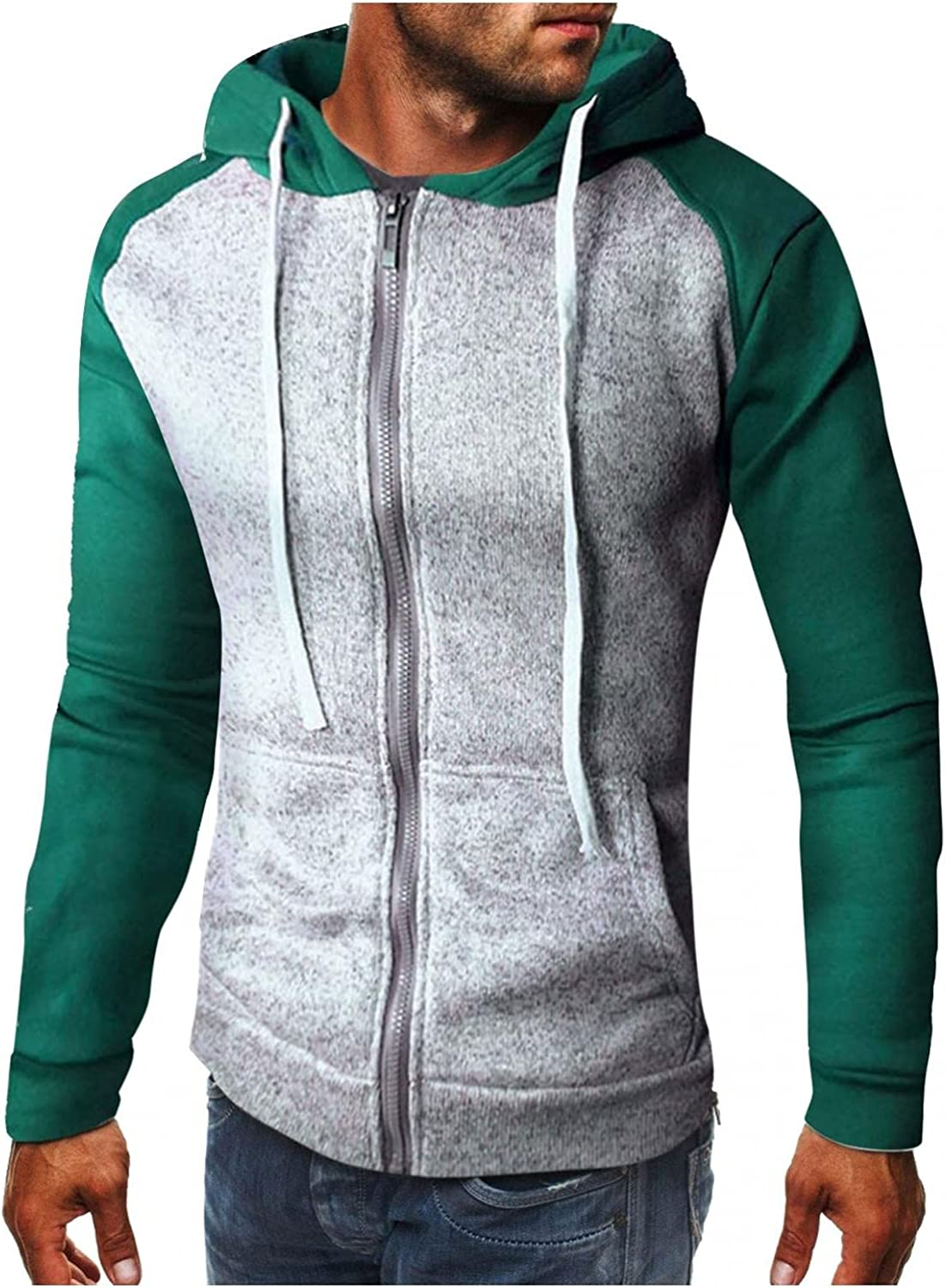 Qsctys Discount sold out mail order Hoodies for Men - Casual Mens Zip Cotto Jacket up