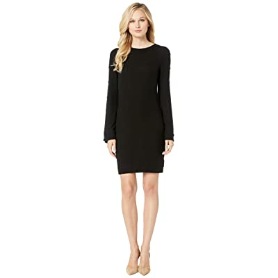Three Dots Brushed Sweater Dress (Black) Women