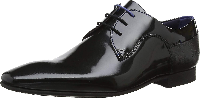Ted Baker Men's Tifipp Patent Leather Lace Up Derby shoes Black