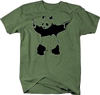 Banksy Panda Guns WWF Tshirt