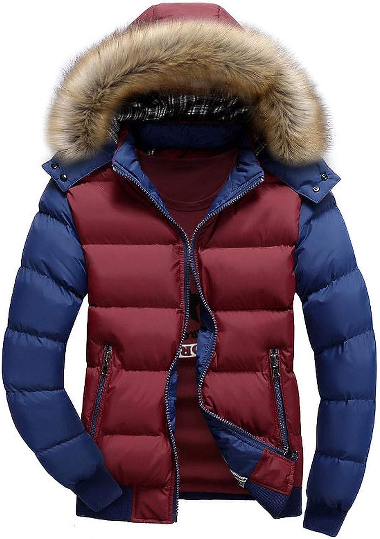 Down Jacket Winter Jacket Hoodie Thickened Warm Casual Down Coat Collar Zip Jacket