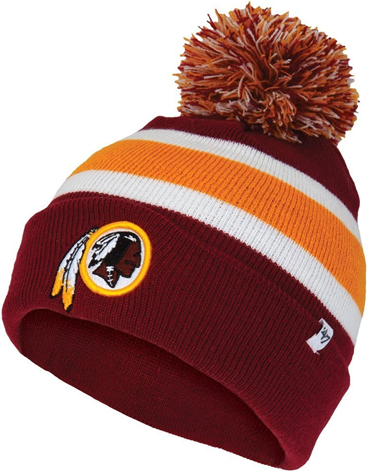 4a2d84ba2 47 Washington Redskins Cuff Breakaway Beanie Hat with Pom NFL Cuffed ...