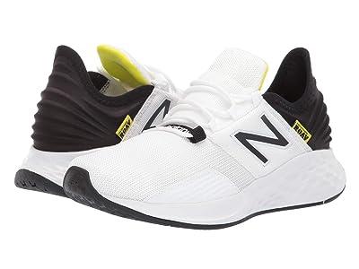 New Balance Kids Fresh Foam Roav (Big Kid) (White/Black/Bleached Lime Glo) Boys Shoes