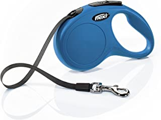 Flexi New Classic Retractable Dog Leash (Tape), 16 ft, Small, Blue