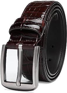 TEVIKOL Mens Belt Leather Casual Dress Belts for Men with Single Prong Buckle