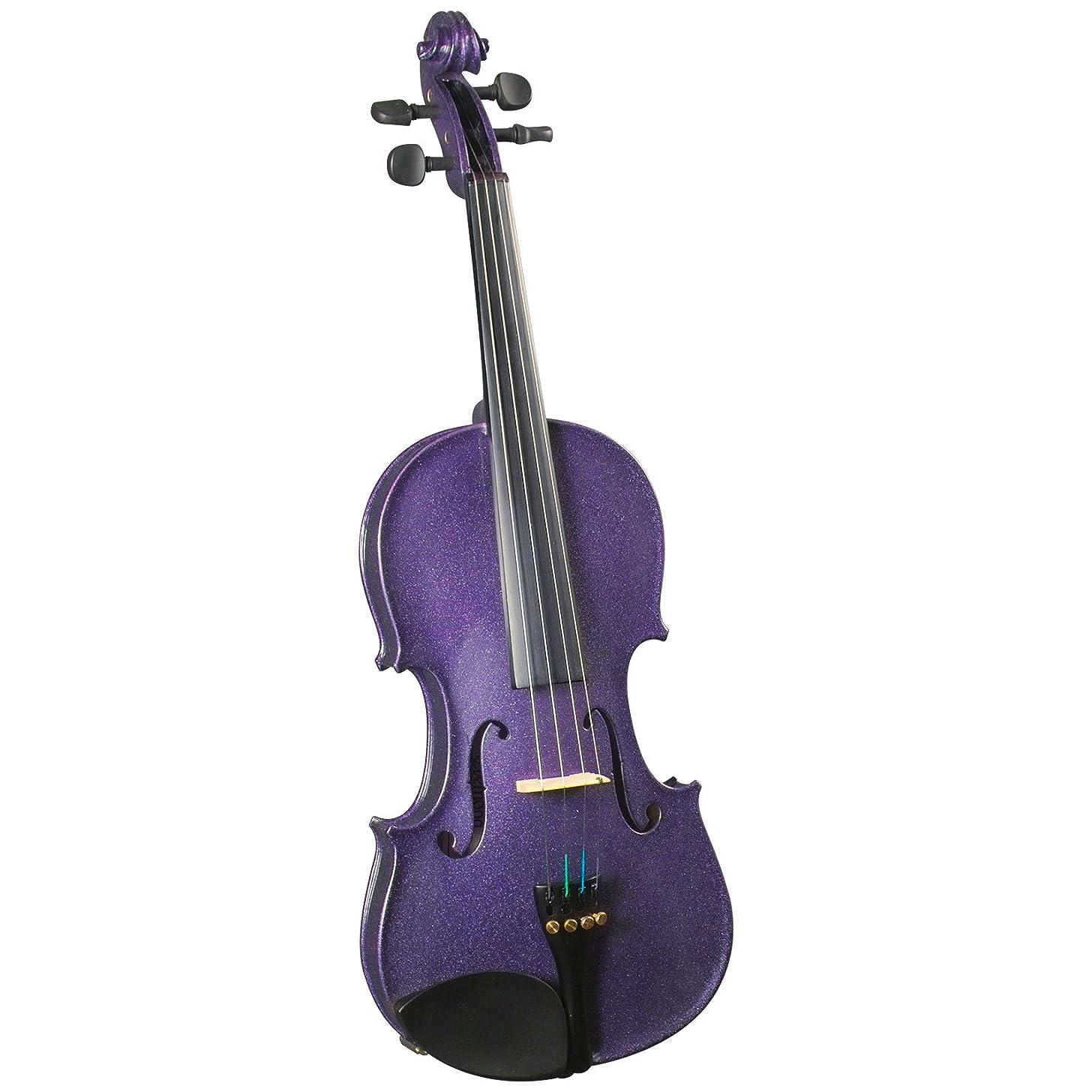Cremona SV-130 Premier Novice Violin Outfit - Sparkling Purple - 4/4 Size