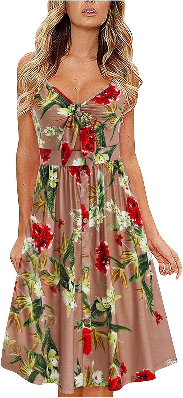 Factory outlet Petite Tank T Lowest price challenge Shirt Dress Plunging Lace Floral Neckline Sundress