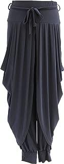 TEXTURE Ladies Womens Lagenlook Dhoti Tie Belt Drape Pleated Loose Harem Trouser Joggers Leggings Pants One Size