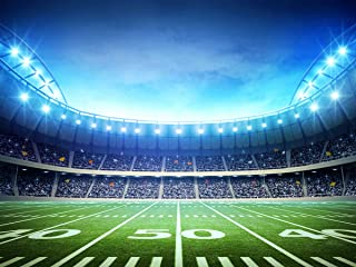 Super Bowl Party Decorations Football Themed Backdrop Background for Gender Reveal Sports Birthday Tailgate Party Cake Table Photo Booth Decoration 070