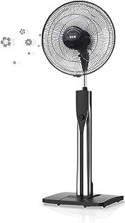 HJM VP577 Ventilador pie, 60 W, Plástico, 3 Velocidades, Negro