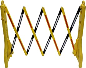 Mobile Plastic Expandable Barricade System - Safety Barrier Gate- Yellow and Black - 38