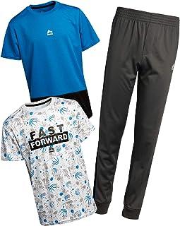 RBX Boys' Jogger Set - Short Sleeve T-Shirt, Performance Tee, and Jogger Sweatpants Set