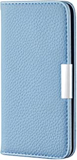 PU Leather Flip Cover Compatible with Samsung Galaxy A50, Elegant blue Wallet Case for Samsung Galaxy A50