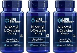 Life Extension N-Acetyl Cysteine 600 Milligrams, 60 Vegetarian Capsules (3 Pack)
