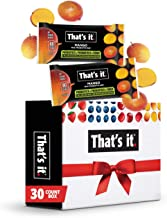 That's it. (30 Count) Mango Mini Probiotic Fruit Bar w/ Gift Box, Immunity Booster & Support, Active Cultures to Promote Healthy Gut & Digestion 100% All Natural 2 Ingredients Paleo Allergen Friendly