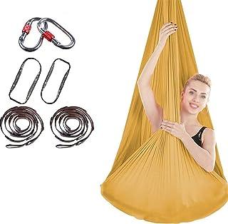 DYJD 18 Couleurs Yoga Aérien Hamac Aérienne Silk Yoga Swing Ultra Strong Antigravity Yoga Hamac Améliore La Force Et La Fl...