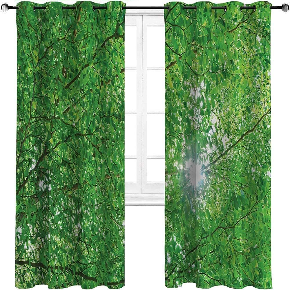 Interestlee Patio [Alternative dealer] Curtains Forest for Max 45% OFF Drapes Grommet Perg