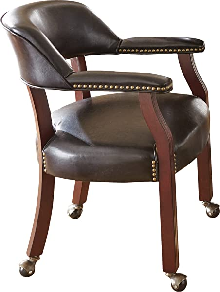 Steve Silver Company Tournament Captains Chair With Casters Black 25 W X 25 D X 31 H