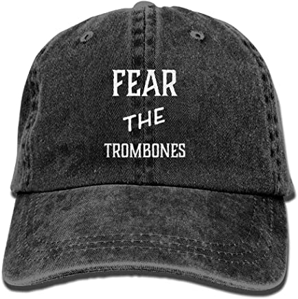 7bab601f6be BeiYou Fear The Trombones. Adjustable Washed Cap Cowboy Baseball Hat Black