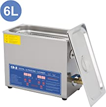 CO-Z 6L Professional Ultrasonic Cleaner with Digital Timer&Heater for Jewelry Glasses Watch Dentures Small Parts Circuit Board Dental Instrument, Industrial Commercial Ultrasound Cleaning Machine 110V