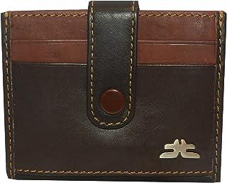 Laveri Genuine Leather Credit Card Holder Wallet Unisex Bill and Card Holder - Leather, Brown