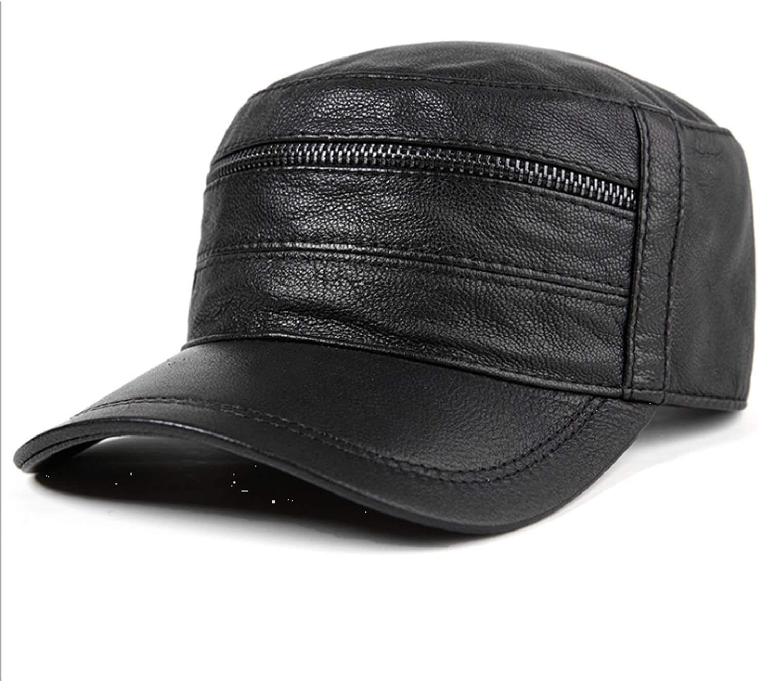 Super Special SALE held Men Hat leather male autumn winter top fashion cap flat baseball Inexpensive