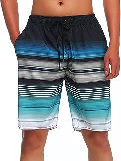 MILANKERR Men's Swim Trunks Stretch Beach Quick Dry Shorts