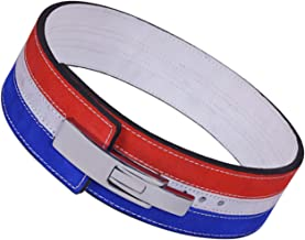 ARD-Champs 10MM Weight Power Lifting Leather Lever Pro Belt Gym Training Red,White & Blue