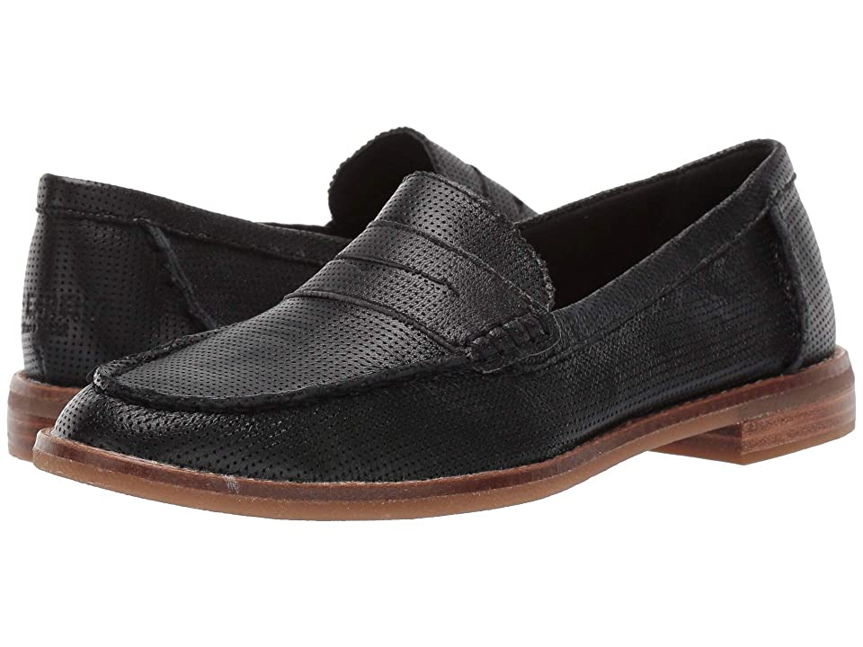Sperry Seaport Penny Perf Leather (Black) Women