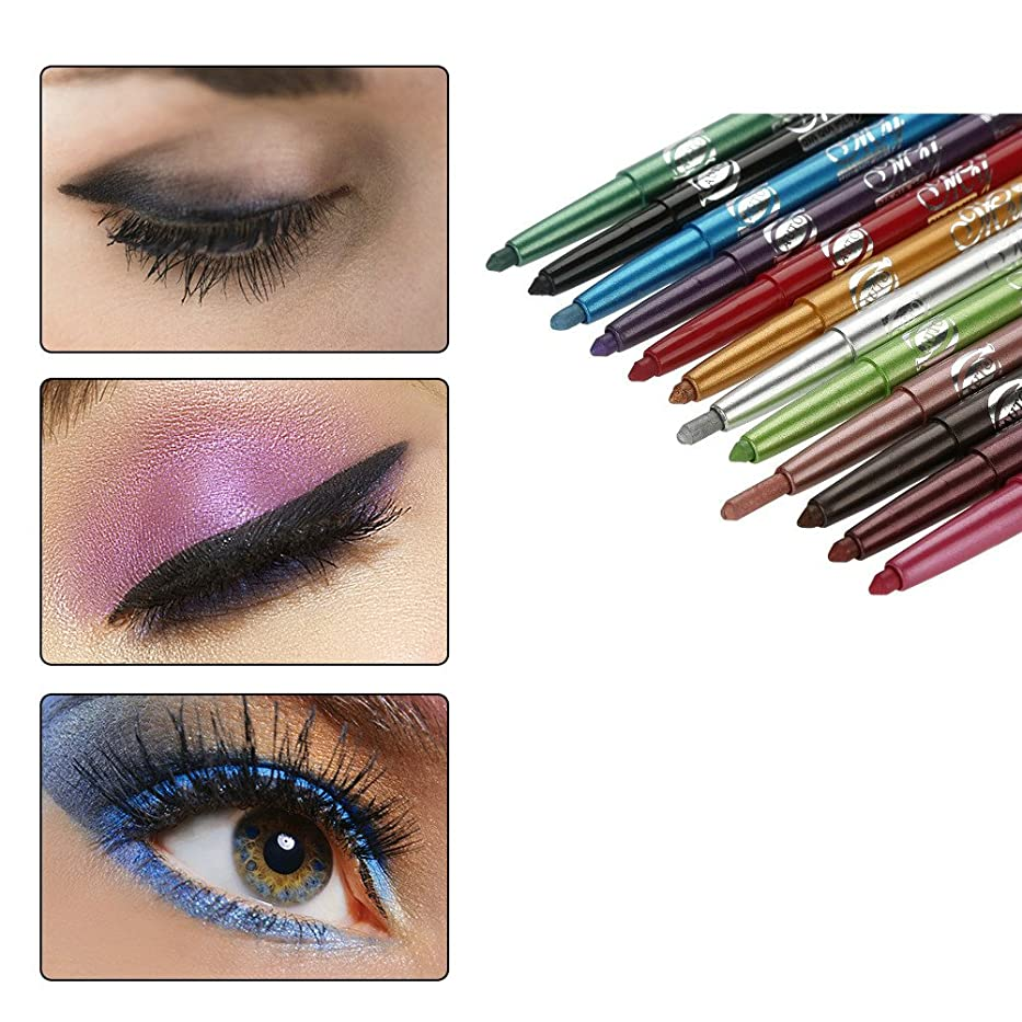 安息孤独な慎重に12色のアイシャドーアイライナー リップライナーペンシル 化粧ペン メイクアップセット 防水 長持ち 人気