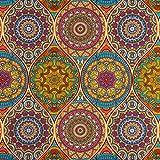 Dekostoff Mandala bunt Canvasstoffe Dekorationen Ornamente