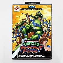 TopFor Tmnt Tournament Fighters 16 Bit Sega Md Game Card With Retail Box For Sega Mega Drive For Genesis