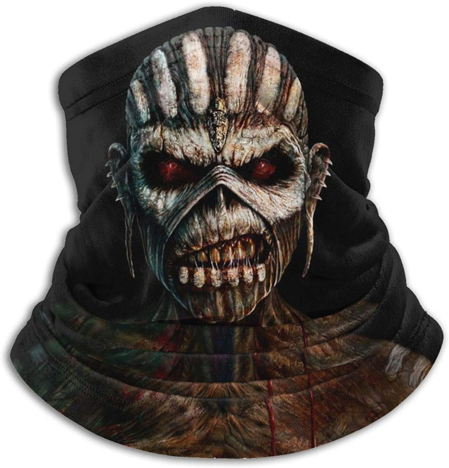 Rock Band Skull Face Mask Cool Skeleton Neck Gaiter Mouth Cover Scarf Bandanas Dust Sun Wind Protection for Man Women Hiking Running Cycling Fishing