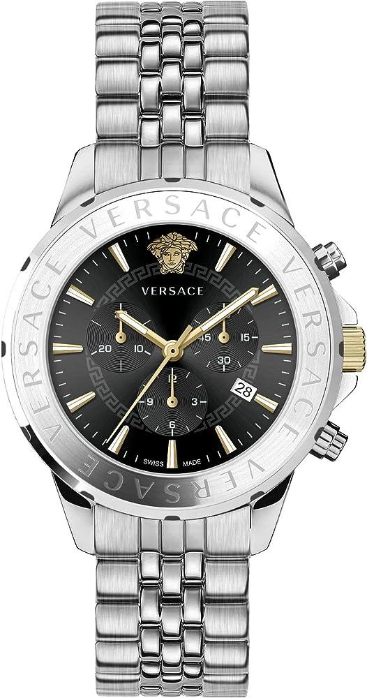 Versace orologio cronografo da uomo in acciaio inossidabile VEV6004 19