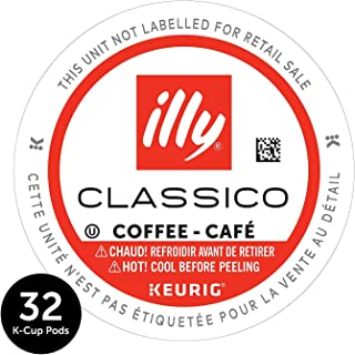 illy 100% Arabica Bean Signature Italian Blend Roasted Single Serve Drip Brewed Coffee K Cup Pods, Classico Medium Roast, 32Count